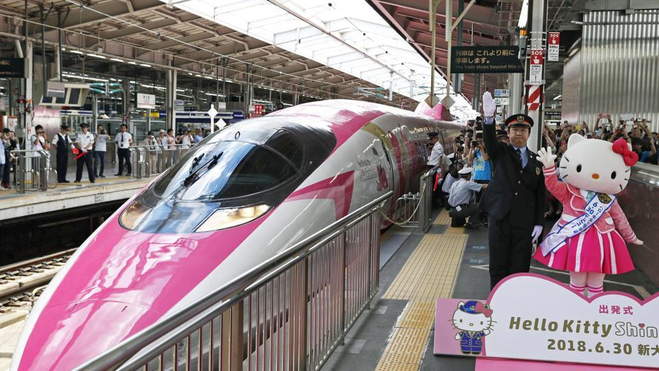 Hello Kitty,Hello kitty bullet train,Japan