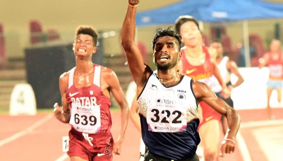 G Lakshmanan narrowly missed the Asian Games qualifying norms during the four day National Inter State Athletics Championships