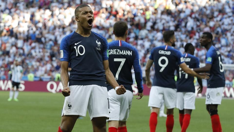 Kylian Mbappe guided France to victory over Argentina in the FIFAWorld Cup 2018 on Saturday. (AP)