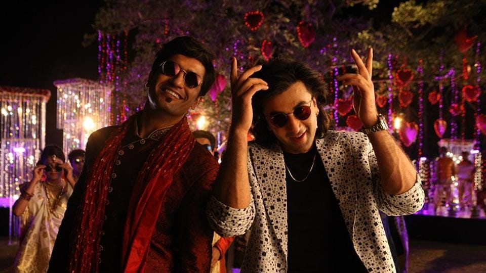 Ranbir Kapoor and Vicky Kaushal in a still from the film Sanju.