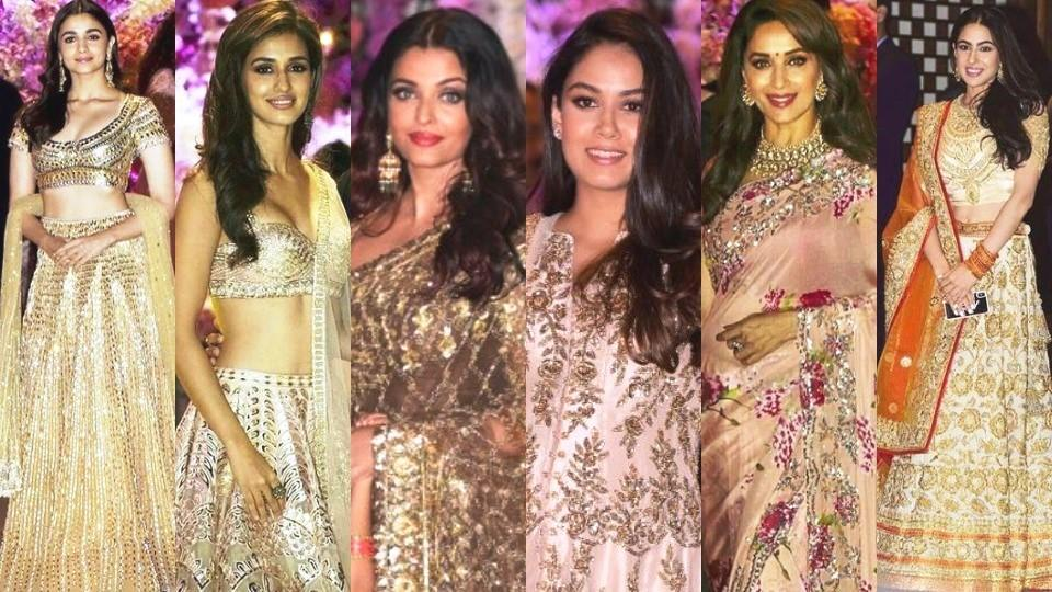 15 Best Lehengas And Sarees From Akash Ambani Shloka Mehta