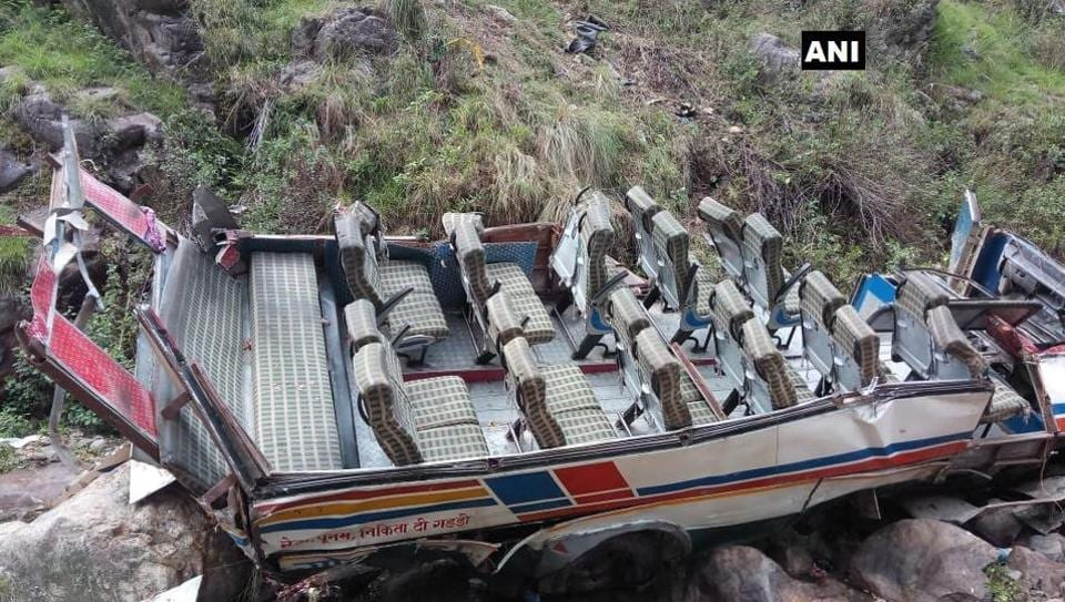 The incident happened near Kuin village around 8.45 am when the bus driver lost control on Dhumakot-Bamenisain road.