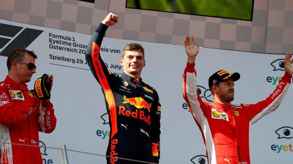 Podium GP Austrii 2018