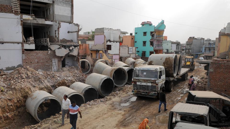 Badshahpur drain,Rs 100cr leisure hub,MCG