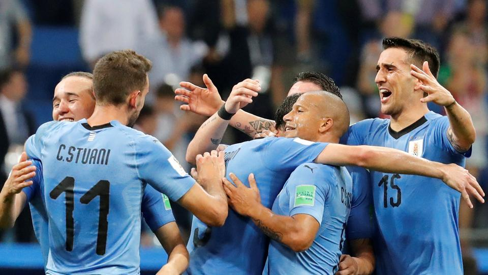 Uruguay are through to  the quarter-final of the FIFA World Cup 2018 after beating Portugal in a Rd of 16 match. (REUTERS)