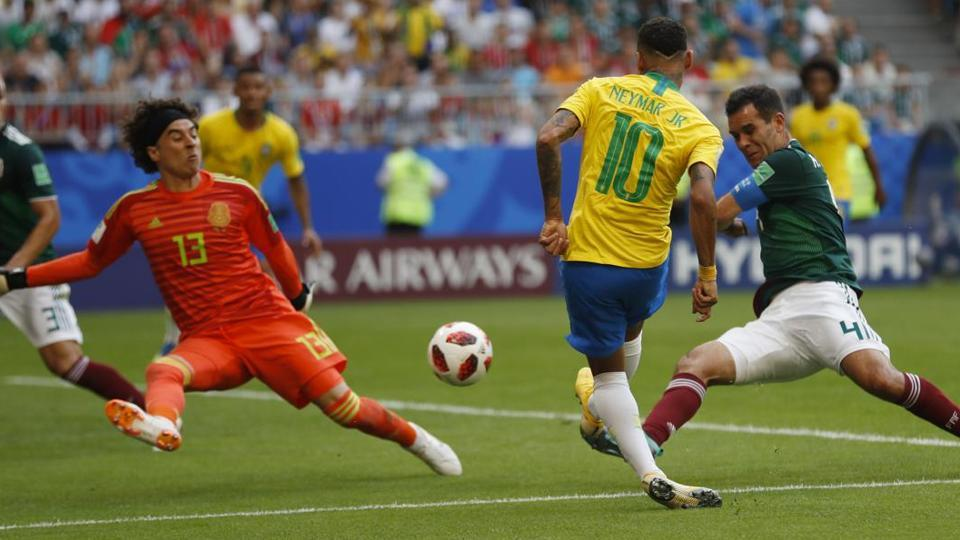 It was the seventh World Cup running that Brazil have reached the last eight. (REUTERS)