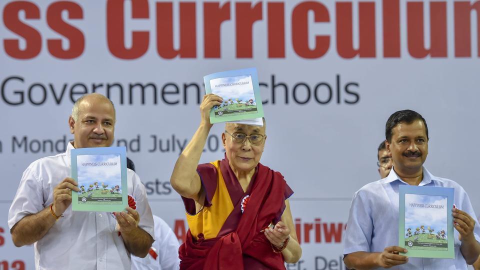 Happiness Curriculum,Kejriwal,Dalai Lama