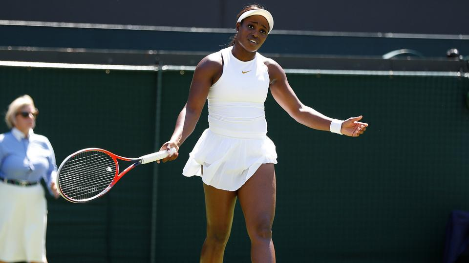 US Open champion Sloane Stephens ousted in 1st round at Wimbledon