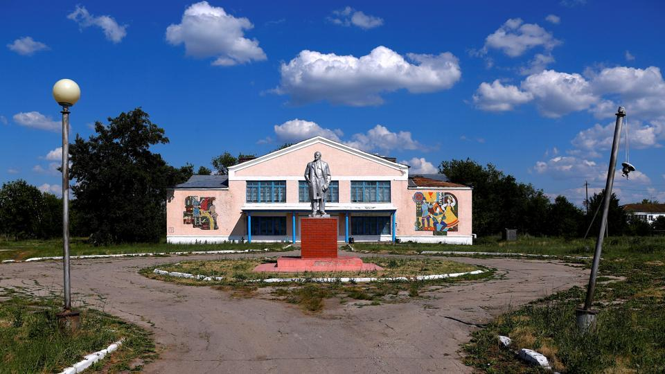 Located in the heart of a village with about 1,500 inhabitants, and under the watchful eye of a statue of Soviet state founder Vladimir Lenin, it serves the community as both an outlet for the teenagers to express themselves and as a meeting place for residents old and young. (David Gray / REUTERS)
