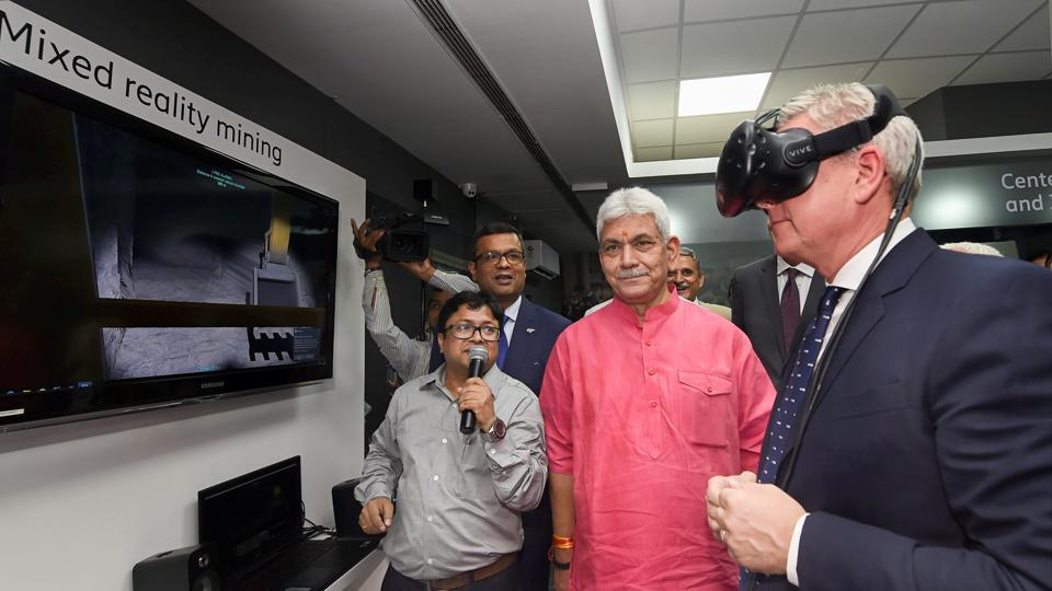 Ericsson CEO, Borje Ekholm at the inauguration of Centre for Excellence and Innovation Lab For 5G at IIT New Delhi. In a bid to stimulate the 5G ecosystem in India, the Swedish telecommunications company on Tuesday formally launched the country's first Centre of Excellence and Innovation Lab for 5G. (PTI)