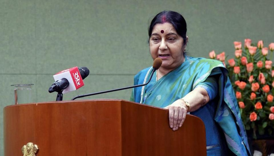 Sushma Swaraj blocked a follower on Twitter who questioned her role in the transfer of a passport department official.
