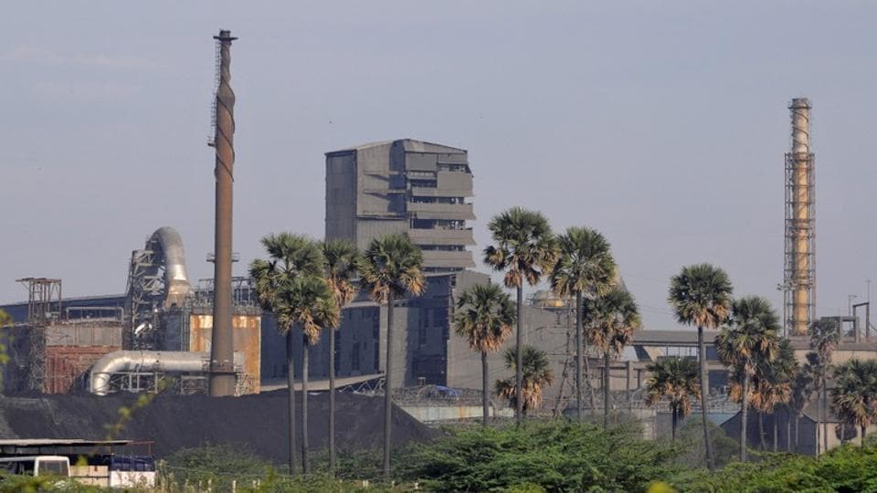 A general view shows Sterlite Industries Ltd's copper plant, a unit of Vedanta Resources, in Thoothukudi, Tamil Nadu.