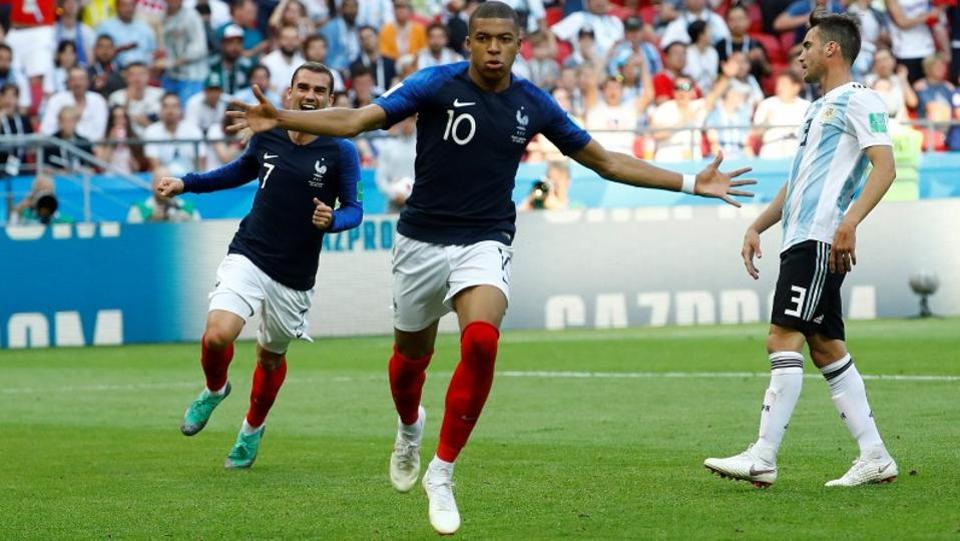 France's Kylian Mbappe would hope to repeat his goal-scoring ability prowess