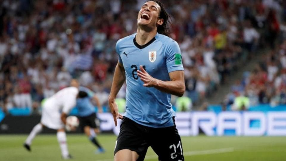 Edinson Cavani has been instrumental in taking Uruguay to the quarterfinals. However, a hamstring injury could prevent him in playing the crucial last eight game against France. (Reuters)