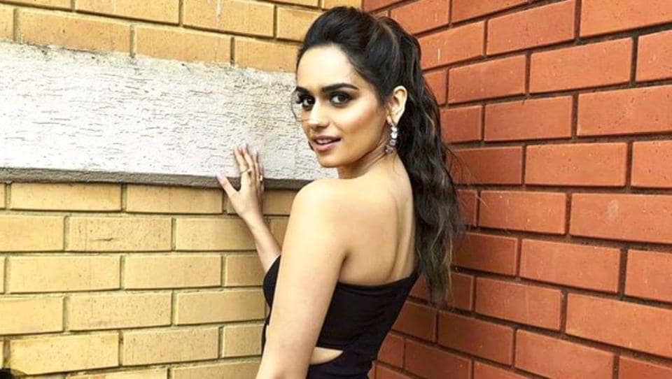 Manushi Chhillar,Dress,little black dress