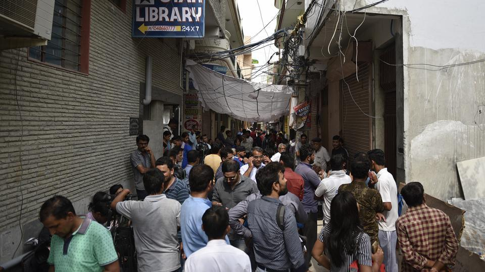 A view of the house where 11 members of the Bhatia family allegedly committed suicide, at Burari in New Delhi, India, on July 1, 2018.