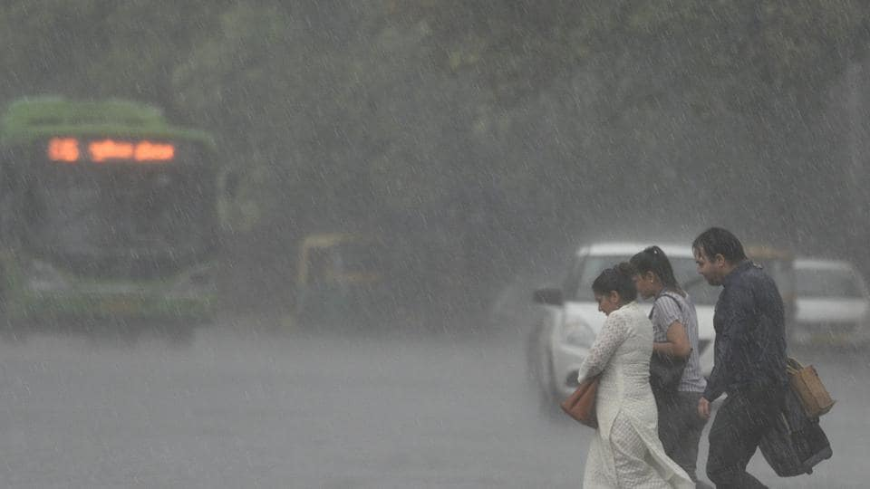 Heavy rainfall brought relief in temperature levels in Delhi on Thursday, July 5, 2018.
