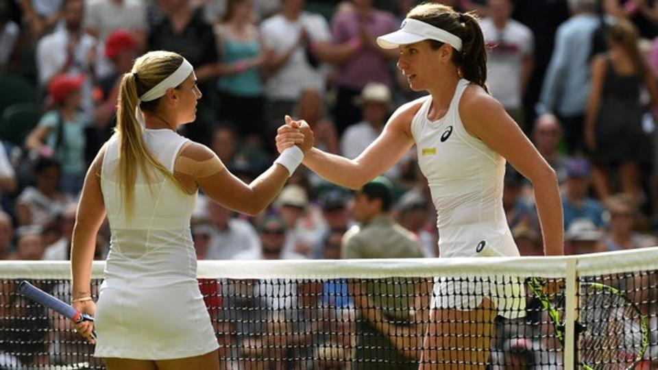 Konta destroyed by Cibulkova on Wimbledon Centre Court