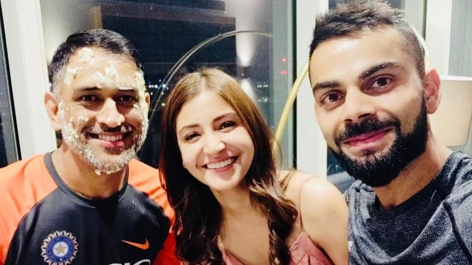Ms Dhoni, Anushka Sharma and Virat Kohli