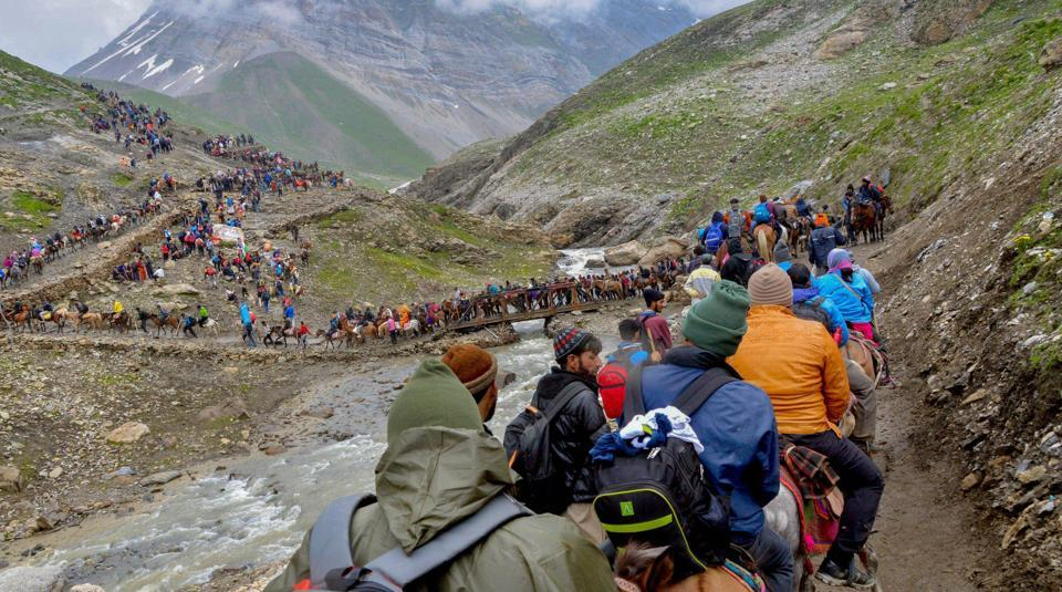 Amarnath Yatra Resumes From Jammu After Two Day Suspension Due To Bad Weather