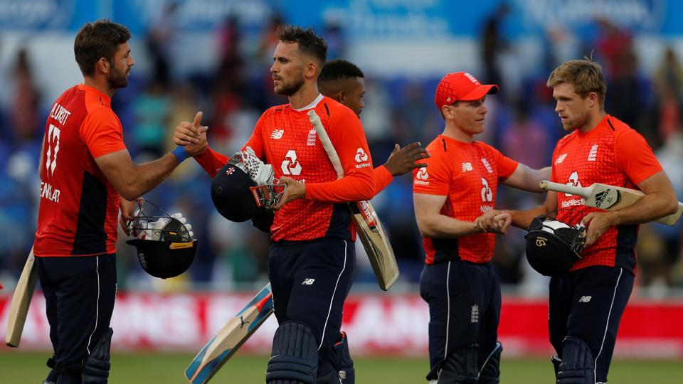 Alex Hales blasted his eighth fifty as England secured a five-wicket win over India in the Cardiff Twenty20 to level the three-match series 1-1. (REUTERS)