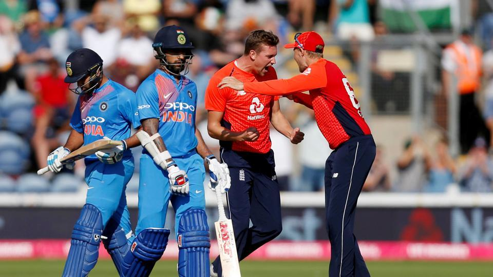 England won the toss and chose to bowl with Jake Ball getting rid of Rohit Sharma in his very first over.  (Action Images via Reuters)