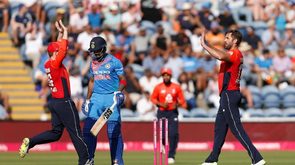 KL Rahul, who blasted a hundred in the first match, was dismissed by Liam Plunkett cheaply. (REUTERS)
