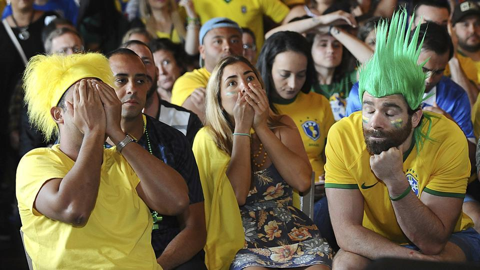 Brazilian fans were left disappointed after their team lost 1-2 to Belgium in the FIFA World Cup 2018 quarter-finals.  (AP)