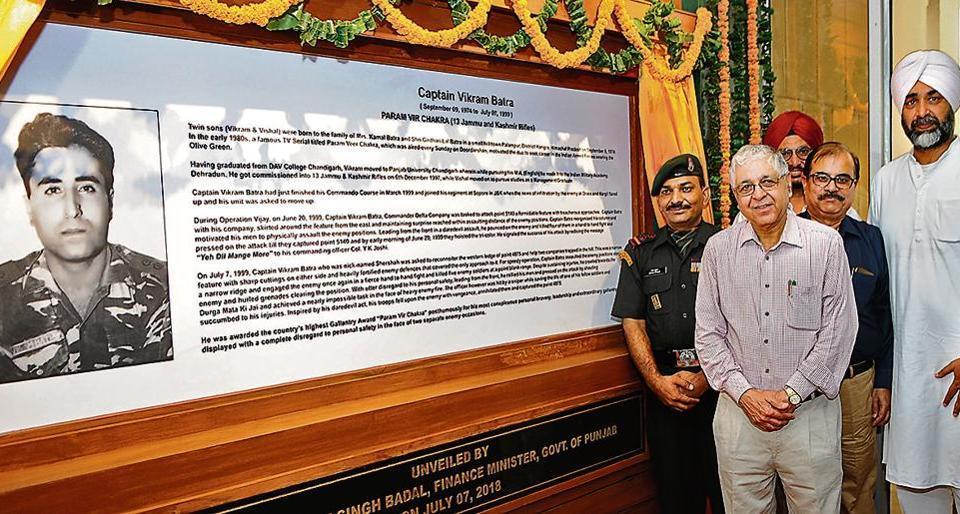 Panjab University,Kargil War,Captain Vikram Batra