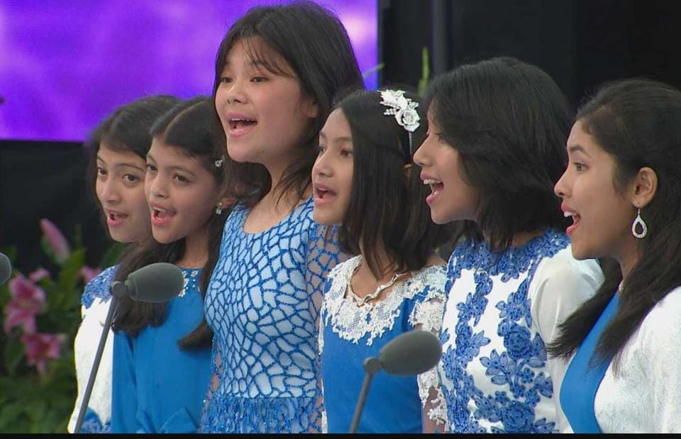 The Aroha Junior Choir won the top marks (91) in the International A Capella Group category.
