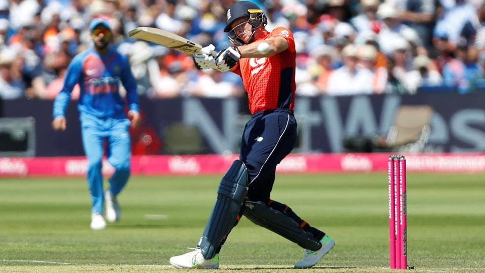 England's Jos Buttler in action for England against India. (Action Images via Reuters)