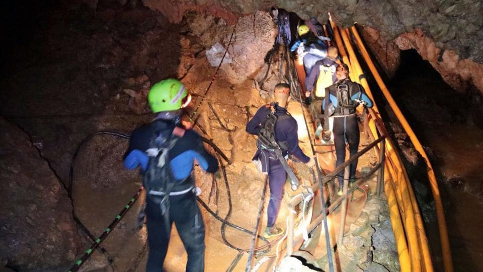First two of Thai soccer team rescued from cave