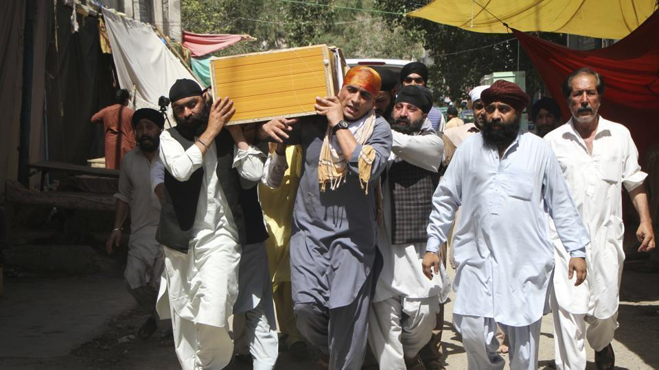 At least 20 people, including 17 Sikhs and Hindus, were killed in a blast in Afghanistan's Jalalabad on July 1.