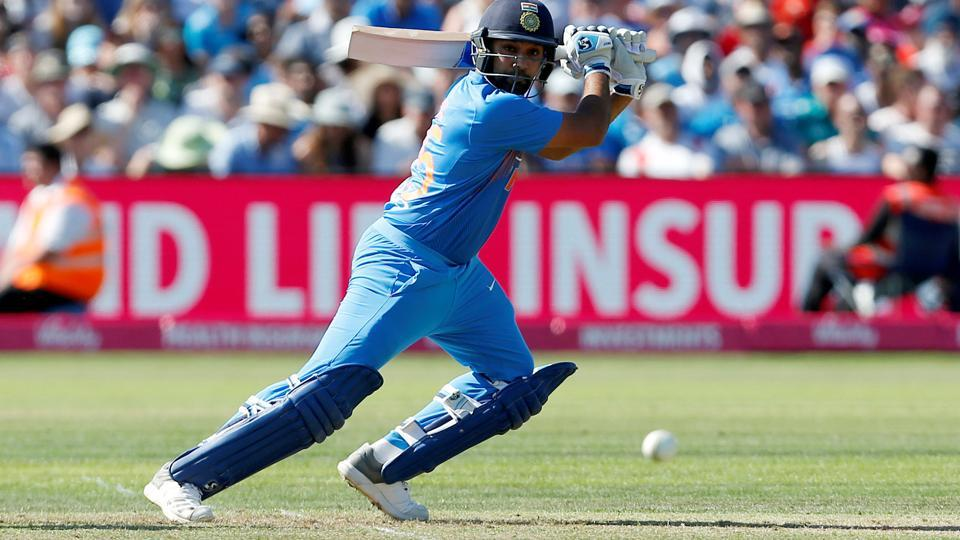 India's Rohit Sharma in action against England in the third T20 in Bristol on Sunday.