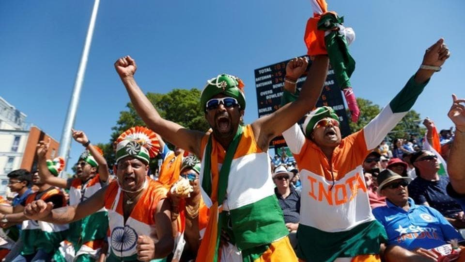 India fans after the win over England. (Reuters)
