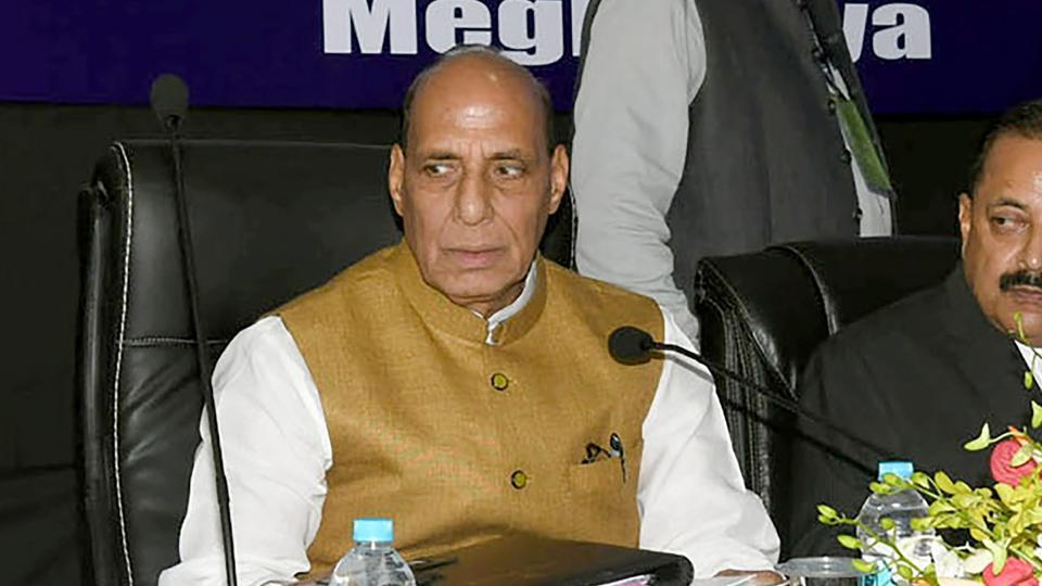 Union home minister Rajnath Singh (centre) chairs the 67th Plenary Session of the North Eastern Council (NEC), in Shillong on July 9, 2018.
