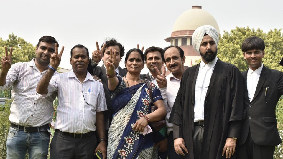 "The Supreme Court on Monday upheld the death sentence of three of the four convicts in the 2012 Delhi Gangrape Case saying, ""there was no error in the judgment."" ""This decision reaffirms our trust in the court,"" said the mother of the girl gangraped and murdered on December 16, 2012, while welcoming the rejection of the review petition filed by the convicts in the case. (Sonu Mehta / HT Photo)"