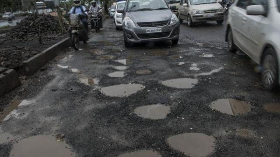 The CM said potholes in the city had come down from 14,455 in 2014-15 to 4,044 in 2017-18.
