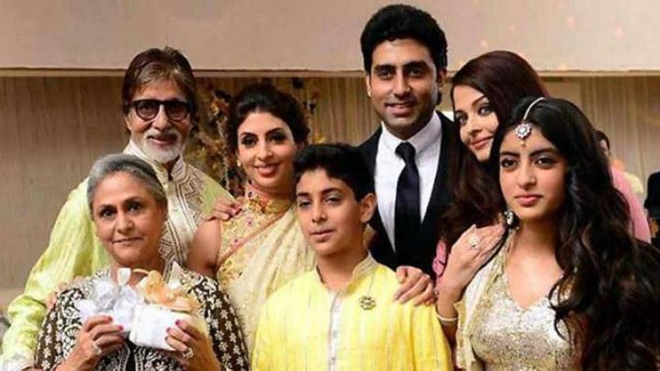 Amitabh Bachchan,Abhishek Bachchan,Shweta Nanda Bachchan