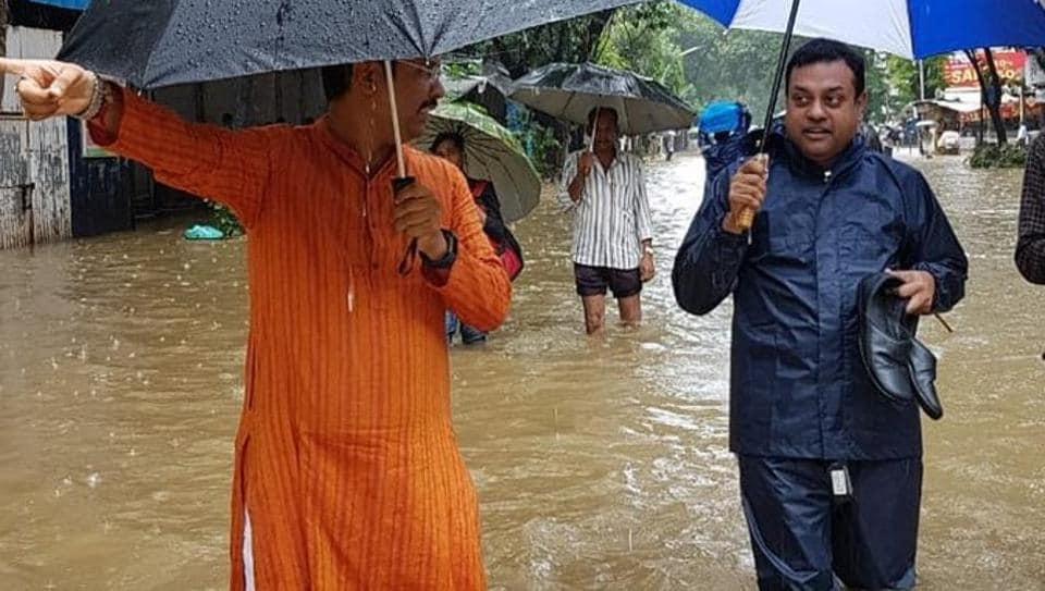 Mumbai rains,Sambit Patra,Viral photo