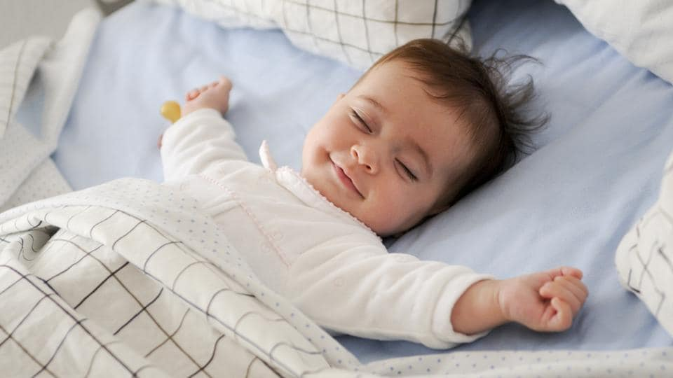 babies who are introduced to solid foods earlier tend to sleep