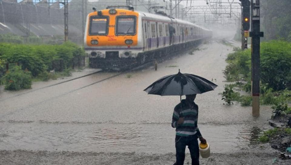 Local Train Services Flights And Road Traffic In Mumbai Were Hit Yet Again As Rained Lashed The City And Its Neighbouring Areas On Tuesday