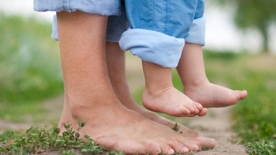 Playing and walking barefoot helps with better balance in children.