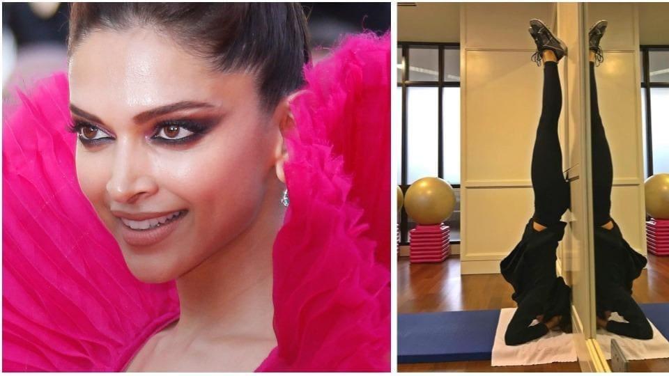 Deepika Padukone,Deepika Padukone Photo,Deepika Padukone Headstand