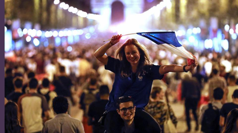 A wave of euphoria swept across France on Tuesday. (AP)