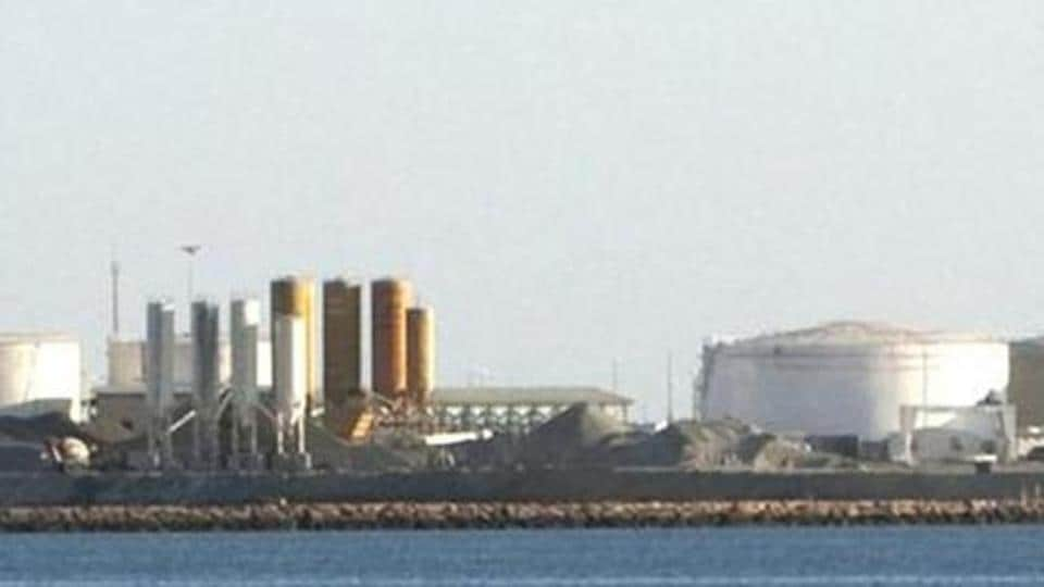 The oil docks at the port of Kalantari in the city of Chabahar, Iran.