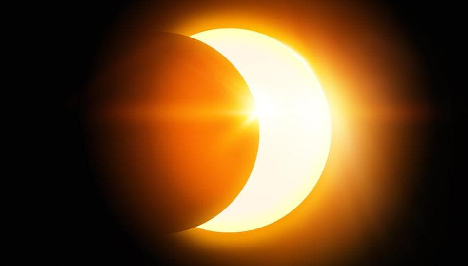 Solar Eclipse 2018,Partial solar eclipse,Surya grahan