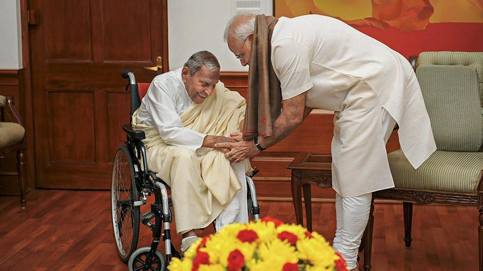 Dada JP Vaswani, spiritual leader and head of the Sadhu Vaswani Mission, died in Pune on Thursday morning ahead of his 100th birthday next month. Born on August 2, 1918, in Hyderabad in Pakistan's Sindh to a pious Sindhi family, Vaswani had been in the hospital for a few days. (PTI File)