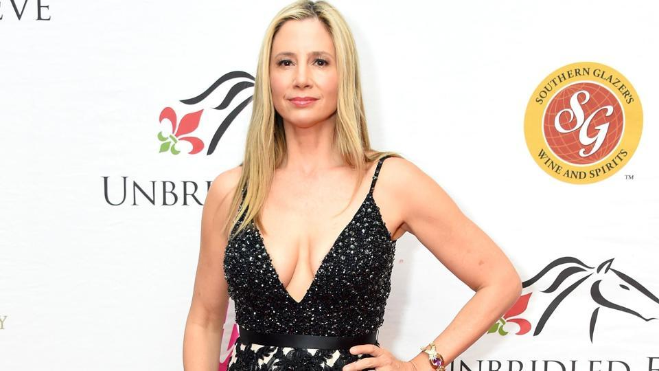 Mira Sorvino attends the Unbridled Eve Gala during the 144th Kentucky Derby.