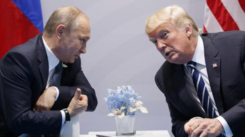 A file picture of US President Donald Trump with Russian President Vladimir Putin. The Kremlin and the White House have announced on June 28 that a summit between Putin and Trump will take place in Helsinki on July 16